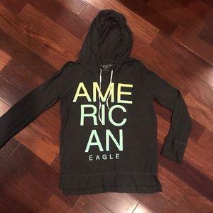 NWOT American Eagle dark gray shirt hoodie